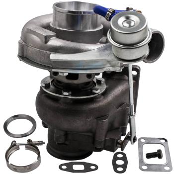 T3/T4 T04E V-BAND Turbocharger Turbo .63 A/R .5A/R Internal Wastegate Universal Turbo