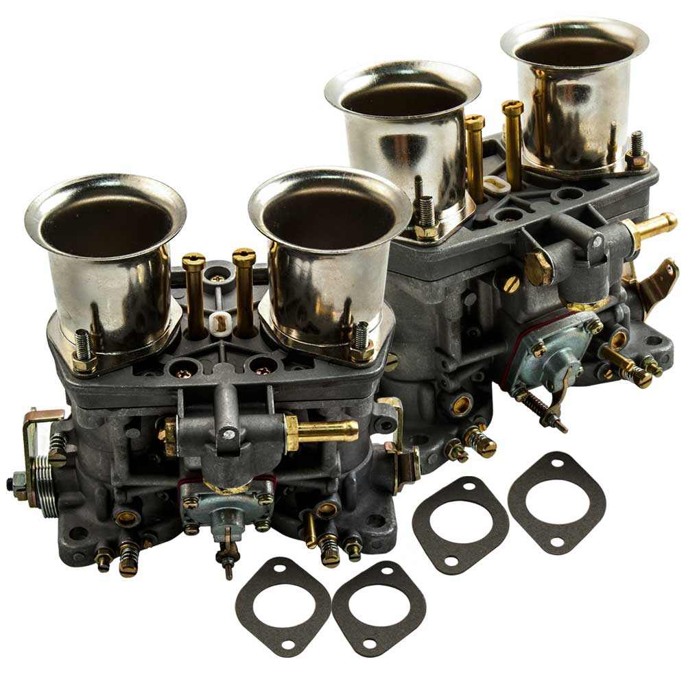 2X Carburador 40IDF CARBURATORE Con Bocina De Aire para VW Beetle Fiat Porsche