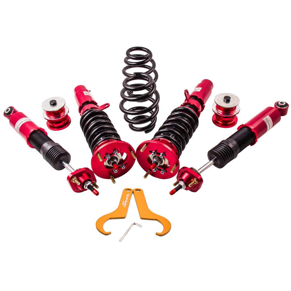 Coilover Suspensión compatible para BMW E46 320i 323i 325i Amortiguador de Muelles Regulable Roscada