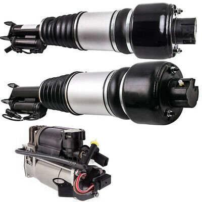 For Mercedes Benz CLS 04-16 Pair Front Air Suspension Shock Struts+Compressor