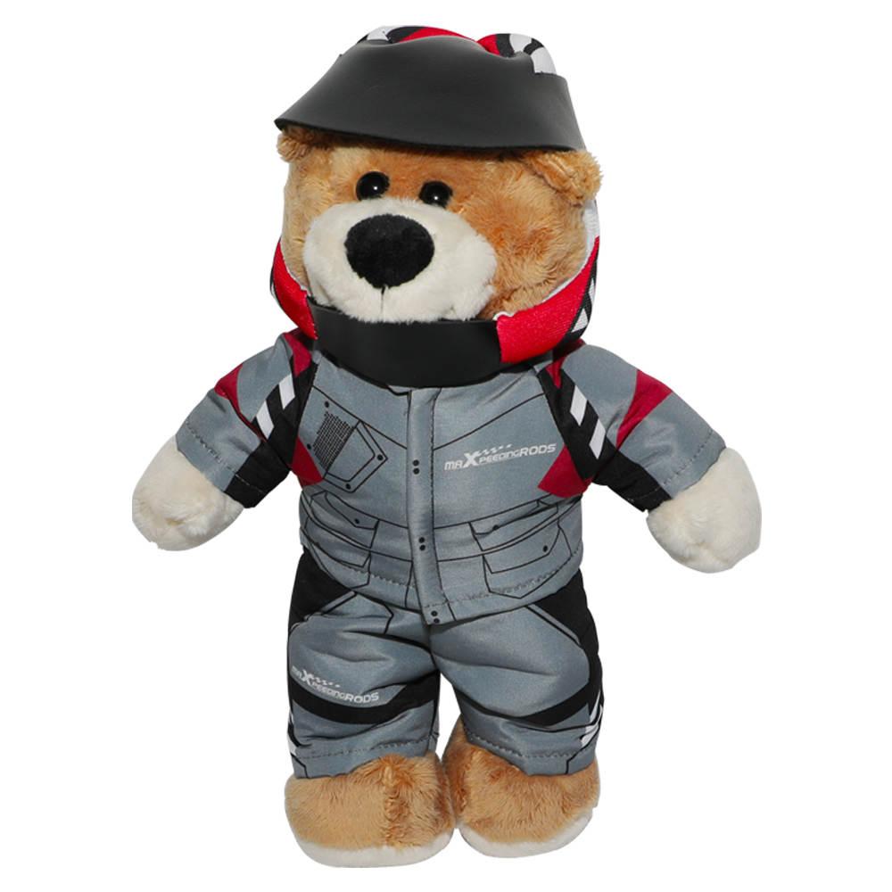 Maxpeedingrods cute bear Racer lovely bear plush doll