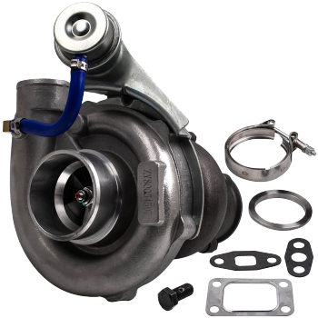 T3/T4 T04E upgraded Turbo Universal T3 Flange A/R.63 V-band Oil Turbocharger