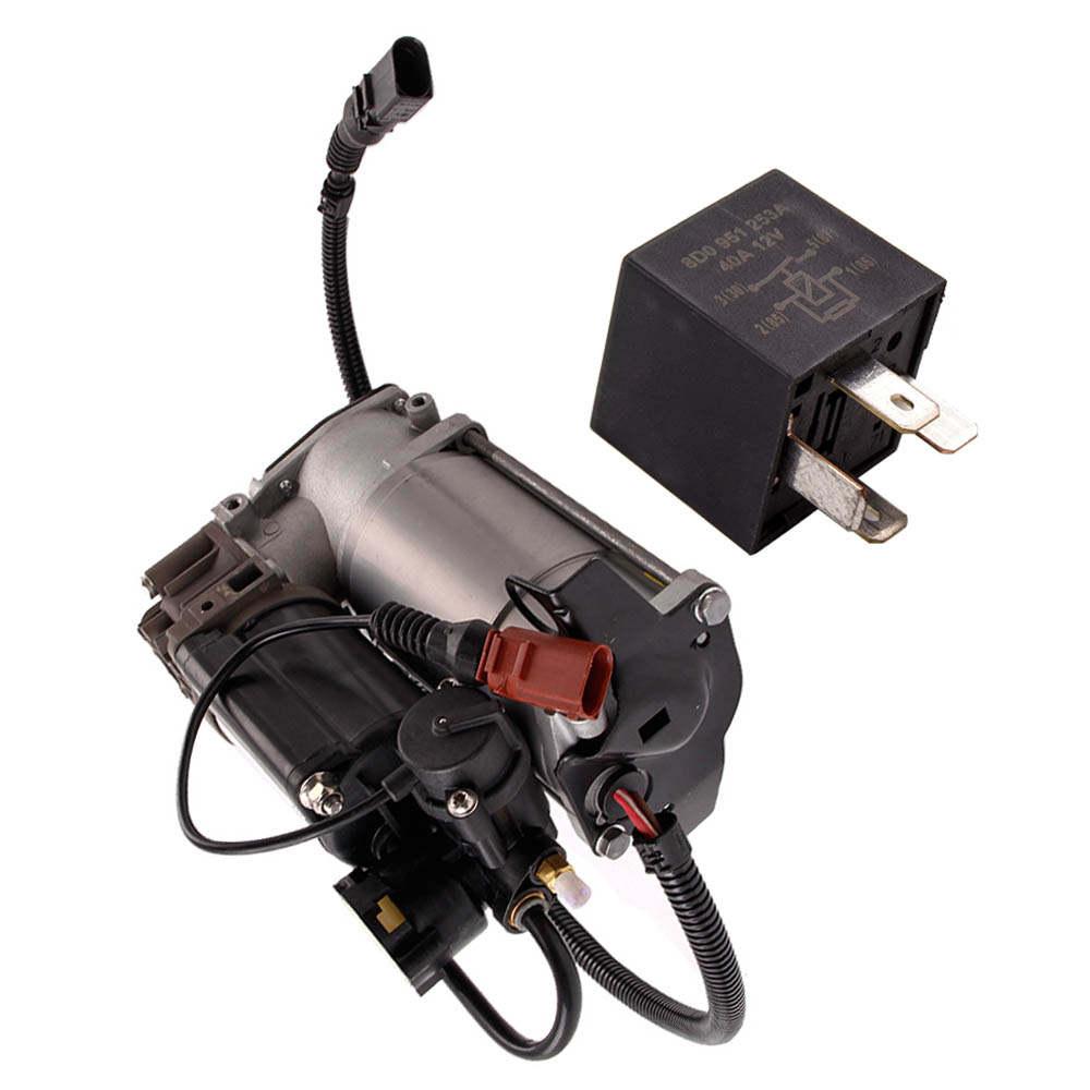 For Audi A8 Compressor air suspension pump engine 6/8 cylinder 4E0616007 + relay