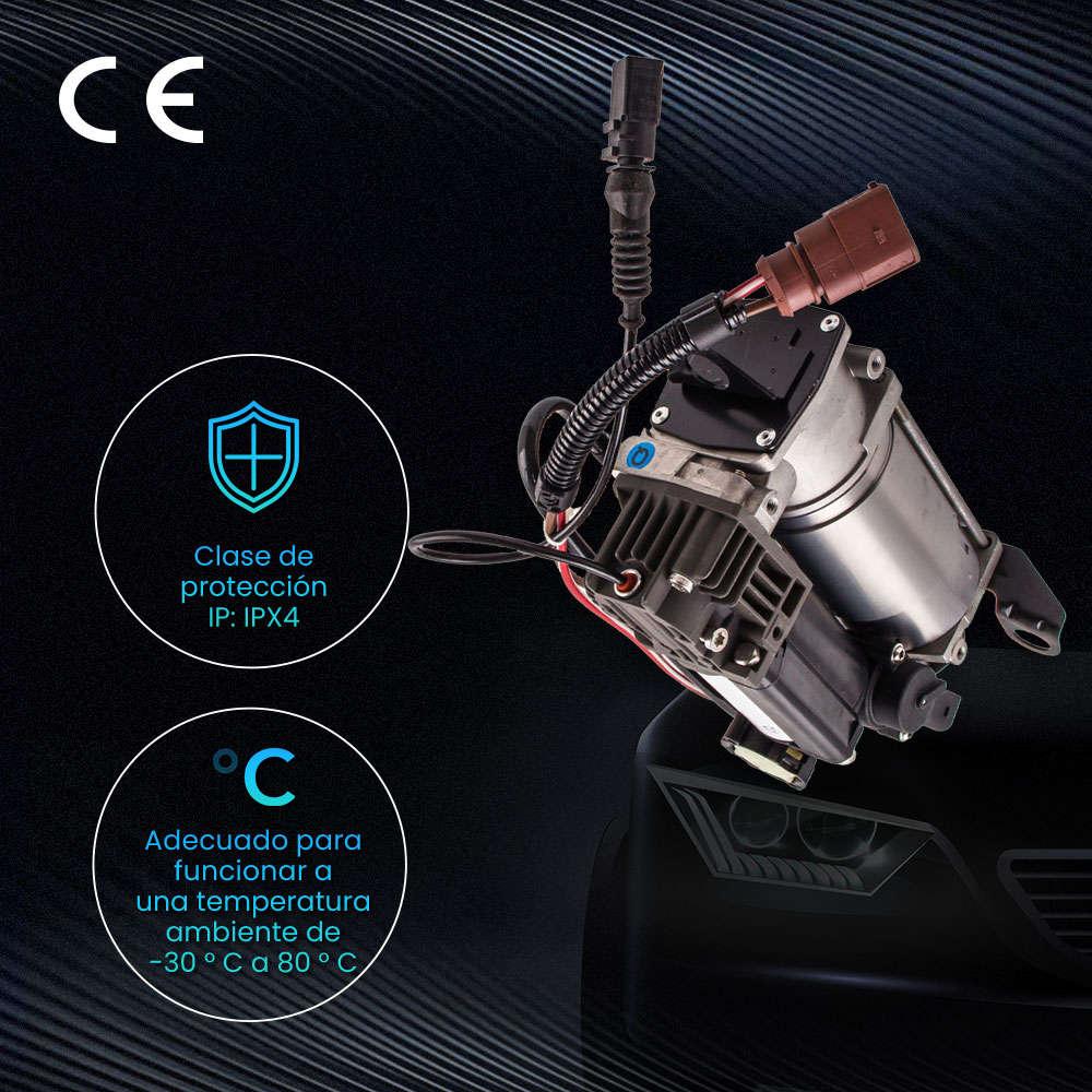 Compatible para Audi A6 C6 2004-2011 compresor de Suspensión de Aire Bomba de Aire + Relé