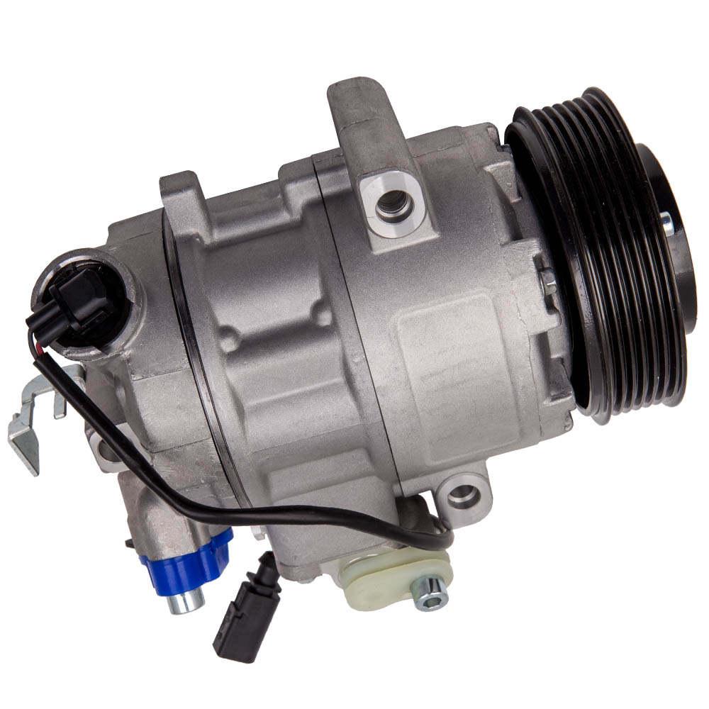 Compresor de aire acondicionado compatible para Audi A2 compatible para VW Polo Cordoba compatible para Skoda Fabia Roomster