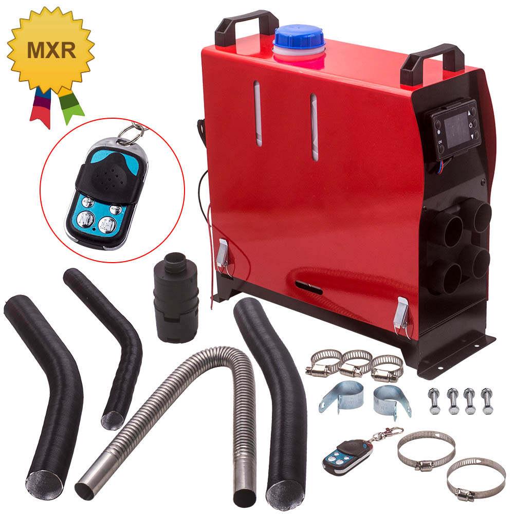 For SUV MotorHomes Car Caravan 4 Holes Air diesel Heater LCD Remote 2KW-5KW 12V