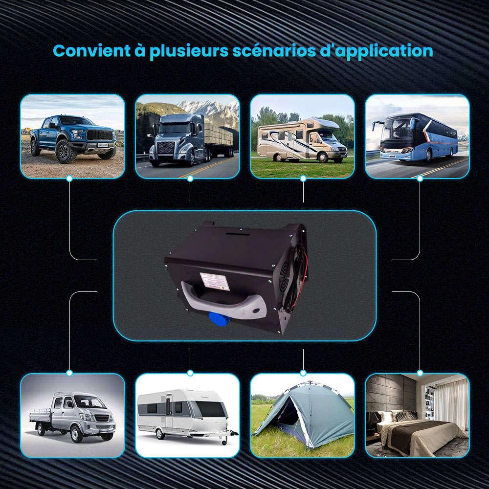 8KW 12V 1-Trous Air Diesel Heater Chauffage de l'air pour Caravane Camion Bateau