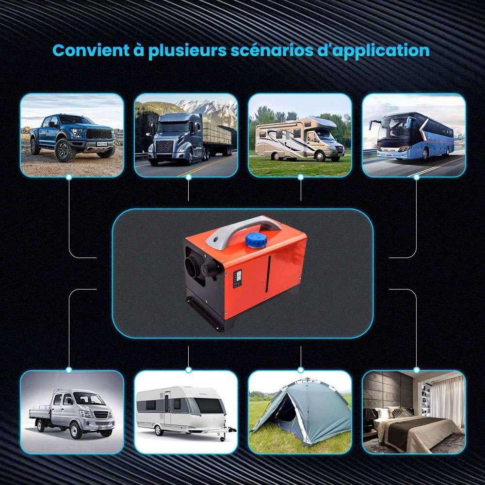 Réchauffeur d'air diesel 12V 8KW avec un trou pour ramassage de camping-cars Van Boat