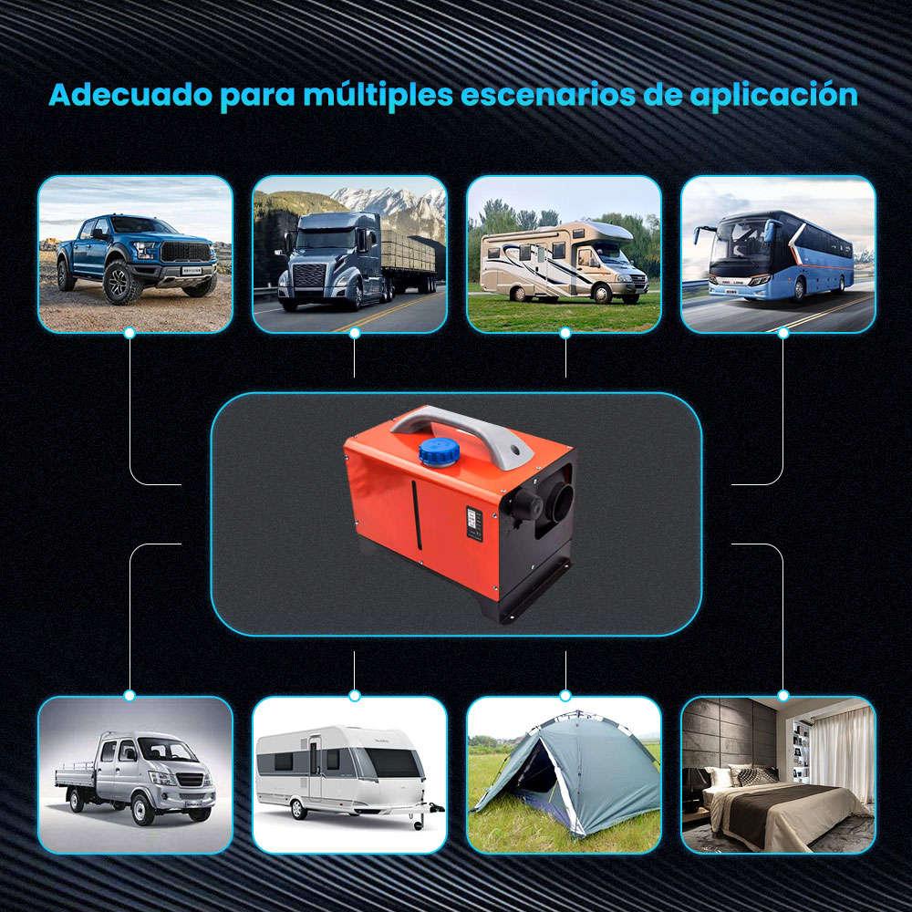 12V 8000W Aire Diesel Calentador LCD Calefactor Calentador de aire 8KW 4 agujeros Coche