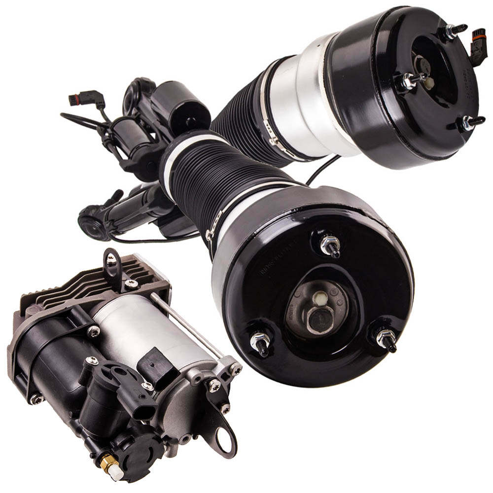 for Mercedes-Benz S-Class C216 Front Suspension + Compressor Pump 2006-2013 New