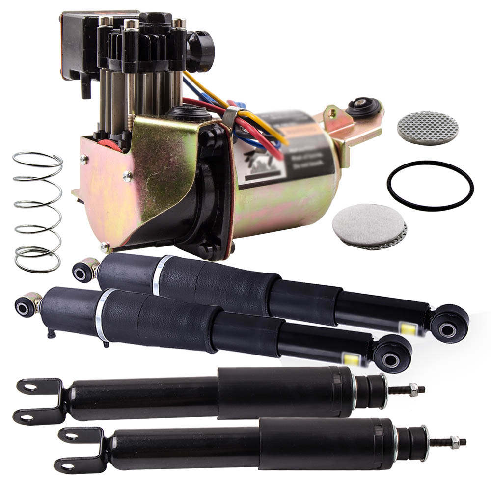 New 4PCS Shock Absorber + Suspension Compressor Kit fit CHEVY GMC Escalade Yukon