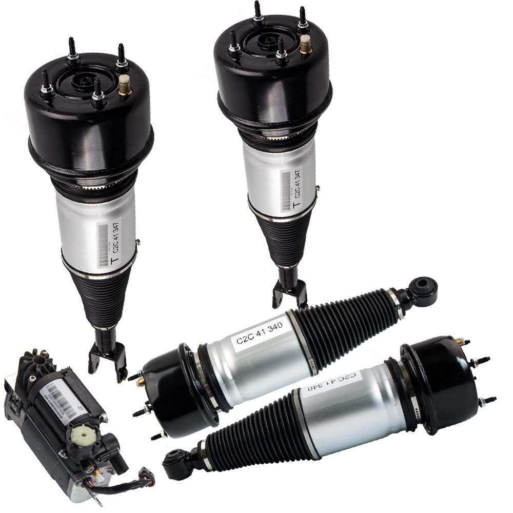 Full Set For Jaguar XJ-Series Air Suspension Absorber Struts W/ Air Pump