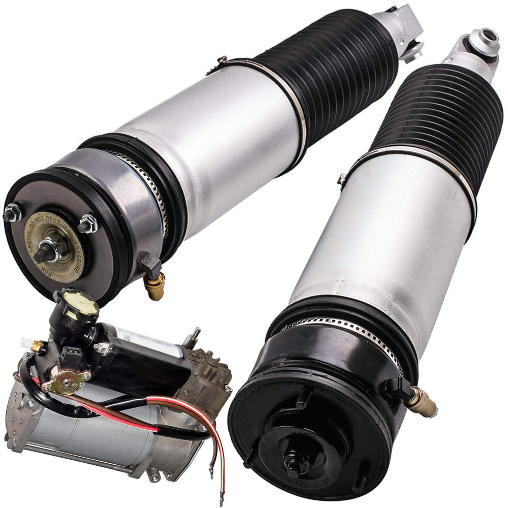 Fit BMW 7 Series Pair Rear Left and Right Struts + Compressor Complete Kit