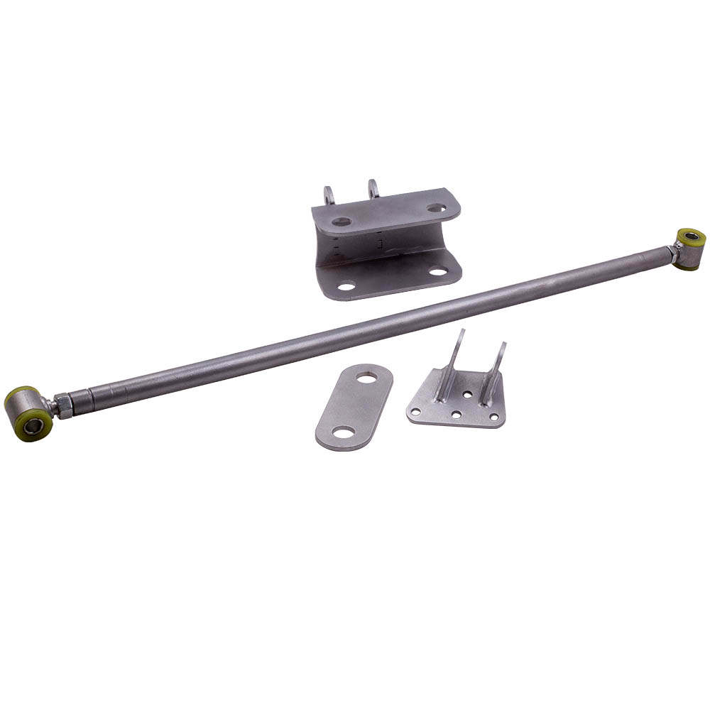 For Chevy C10 GMC Truck Silver Double Adjustable Panhard Trac Bar W/ Brackets