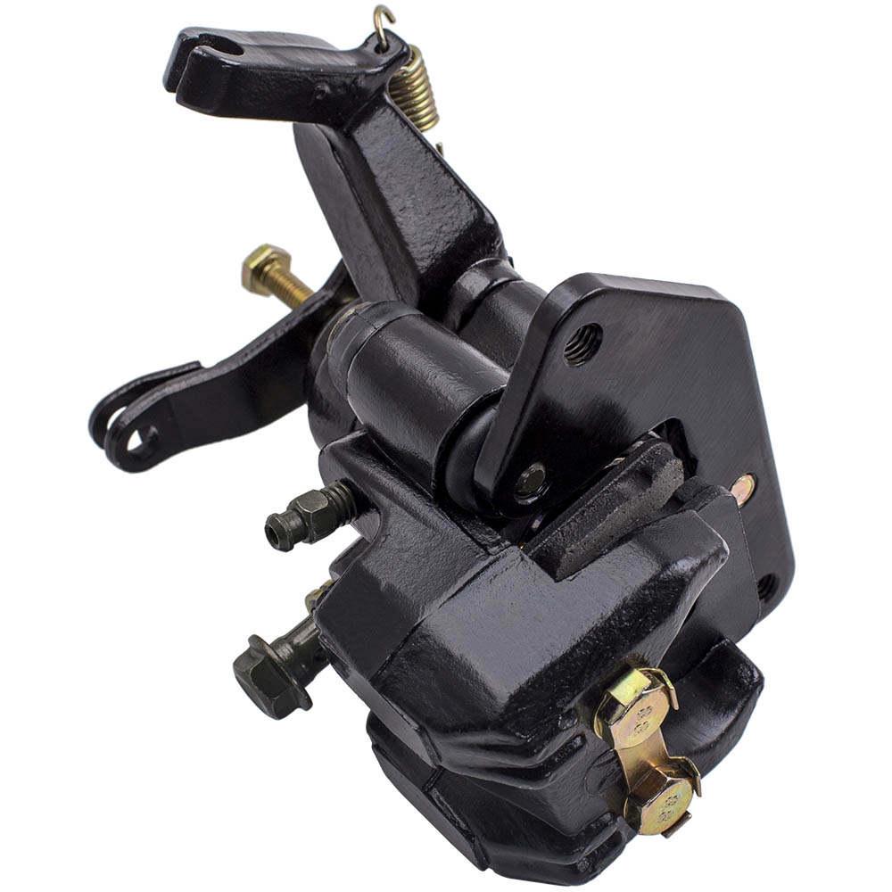 Pinza de freno de mano de freno trasero compatible para Yamaha ATV Banshee 350 Warrior Raptor Wolverine Blaster con almohadillas