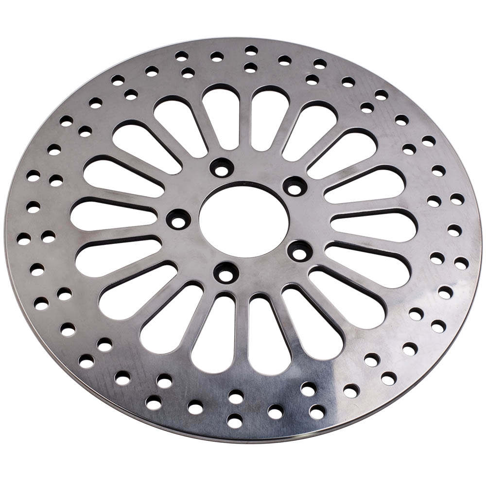 11.8 Super Spoke Polished Front Brake Rotor Disc For Harley Touring 2008-2013 X2