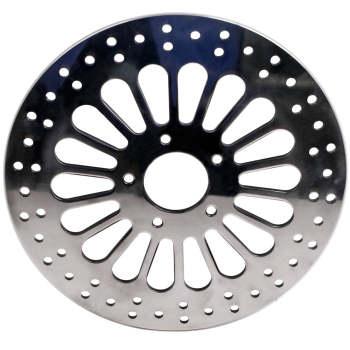 11.8 Super Spoke Polished Front Brake Rotor Disc For Harley Touring 2008-2013 X2