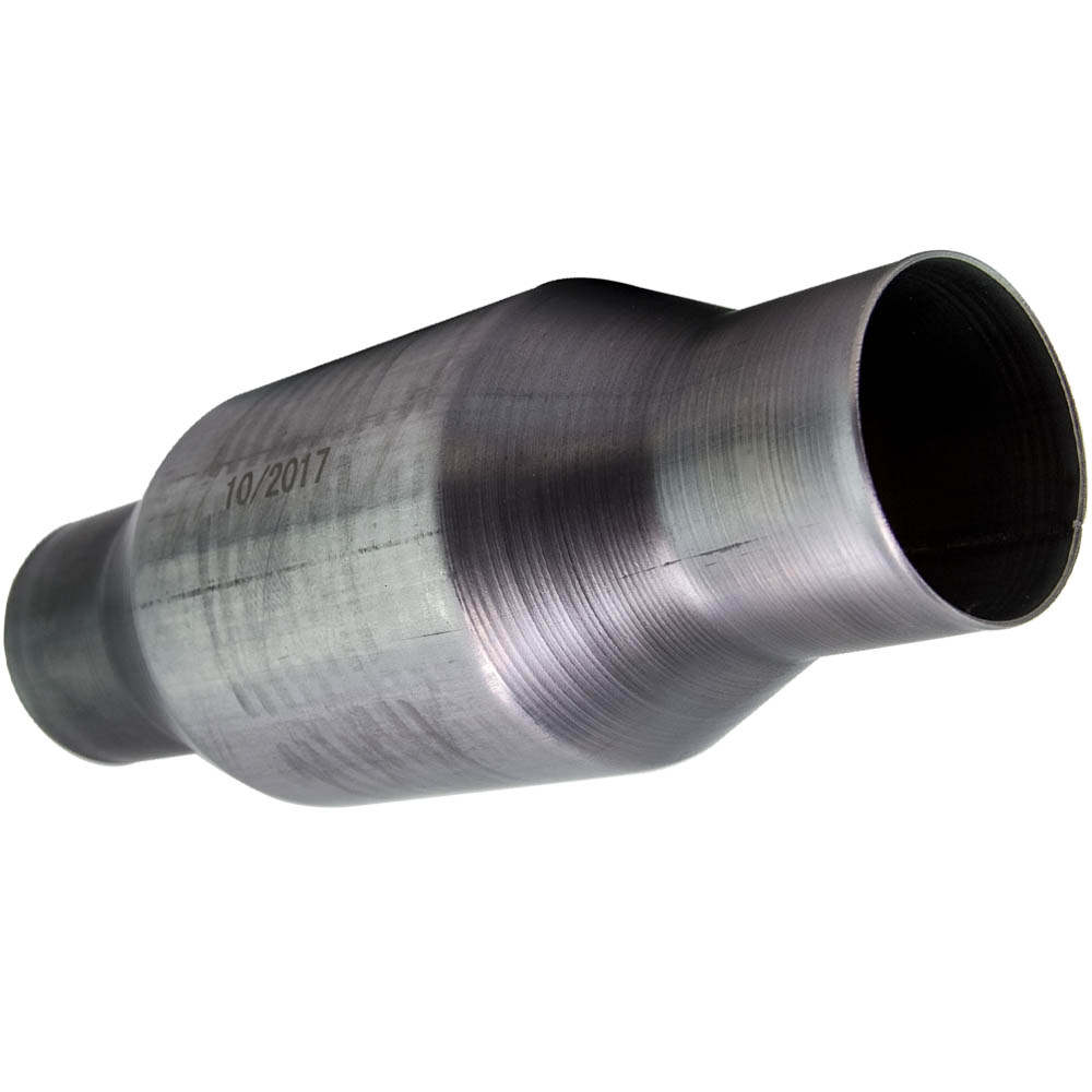 2PCS 410250 2.5  pulgadaconvertidor catalítico de escape de coche de acero inoxidable universal de alto flujo