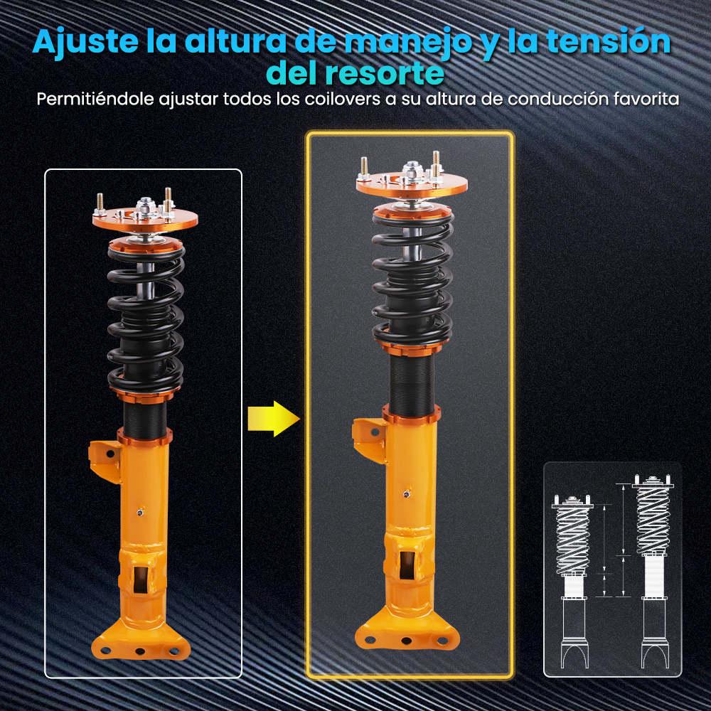 Maxpeedingrods puntales de resorte helicoidal de altura ajustable compatible para BMW E36 318i 325i 328i 1992-1999