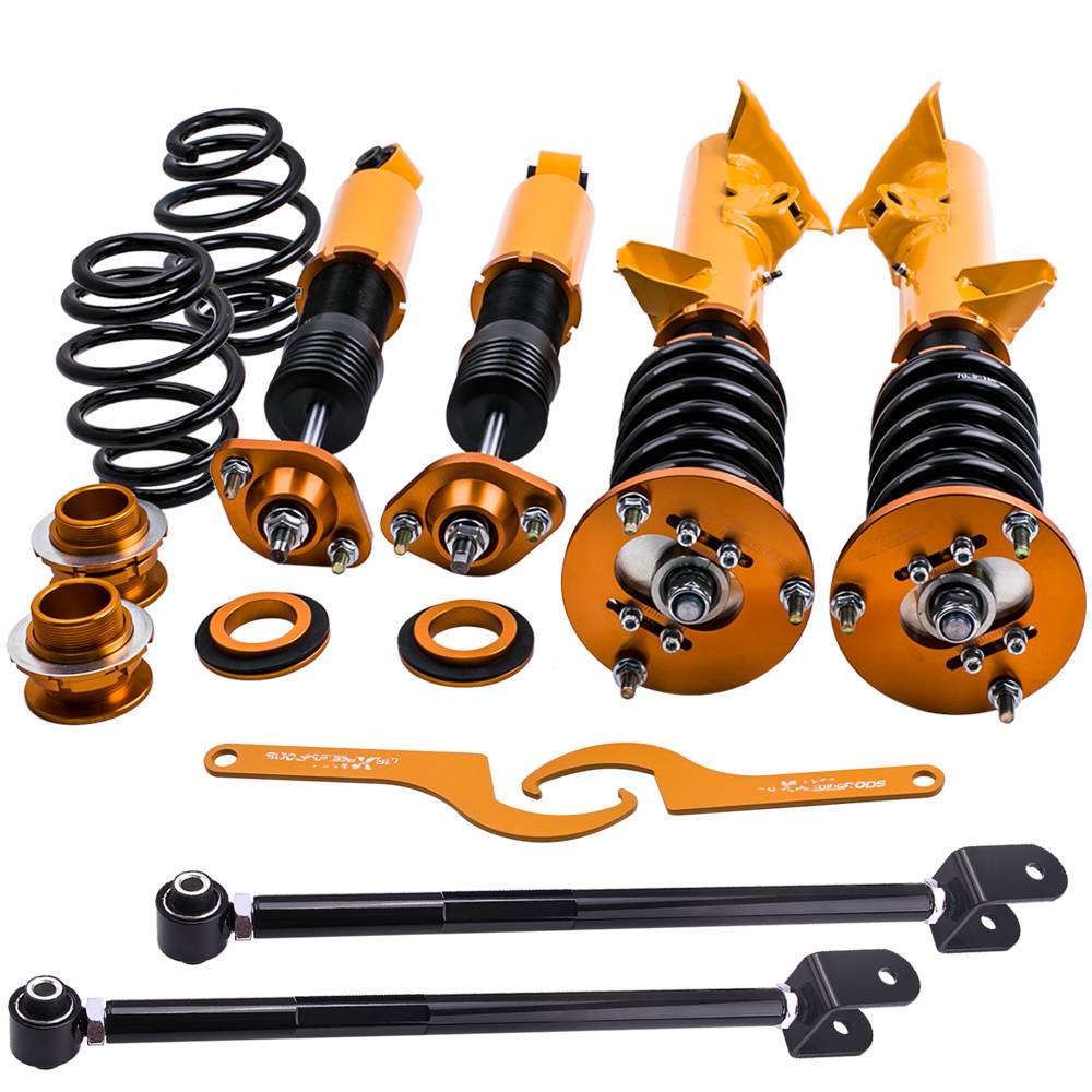 Coilover Suspensión Amortiguador Ajustable compatible para BMW 3 Series E36+Control Arms