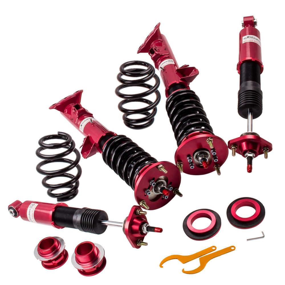 Full adjustable Coilover Suspension kits for BMW E36 325is 325ic 325i 328i Shock Strut Adjustable red
