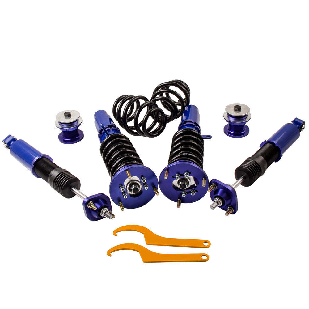 For BMW E46 328 325 330 1999-2005 Shocks Springs Lowering Blue New Coilovers
