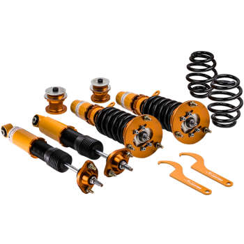 For BMW E46 3 Series Shock Absorbers Struts 24 Steps Damper Adjustable Coilovers Suspension Kits