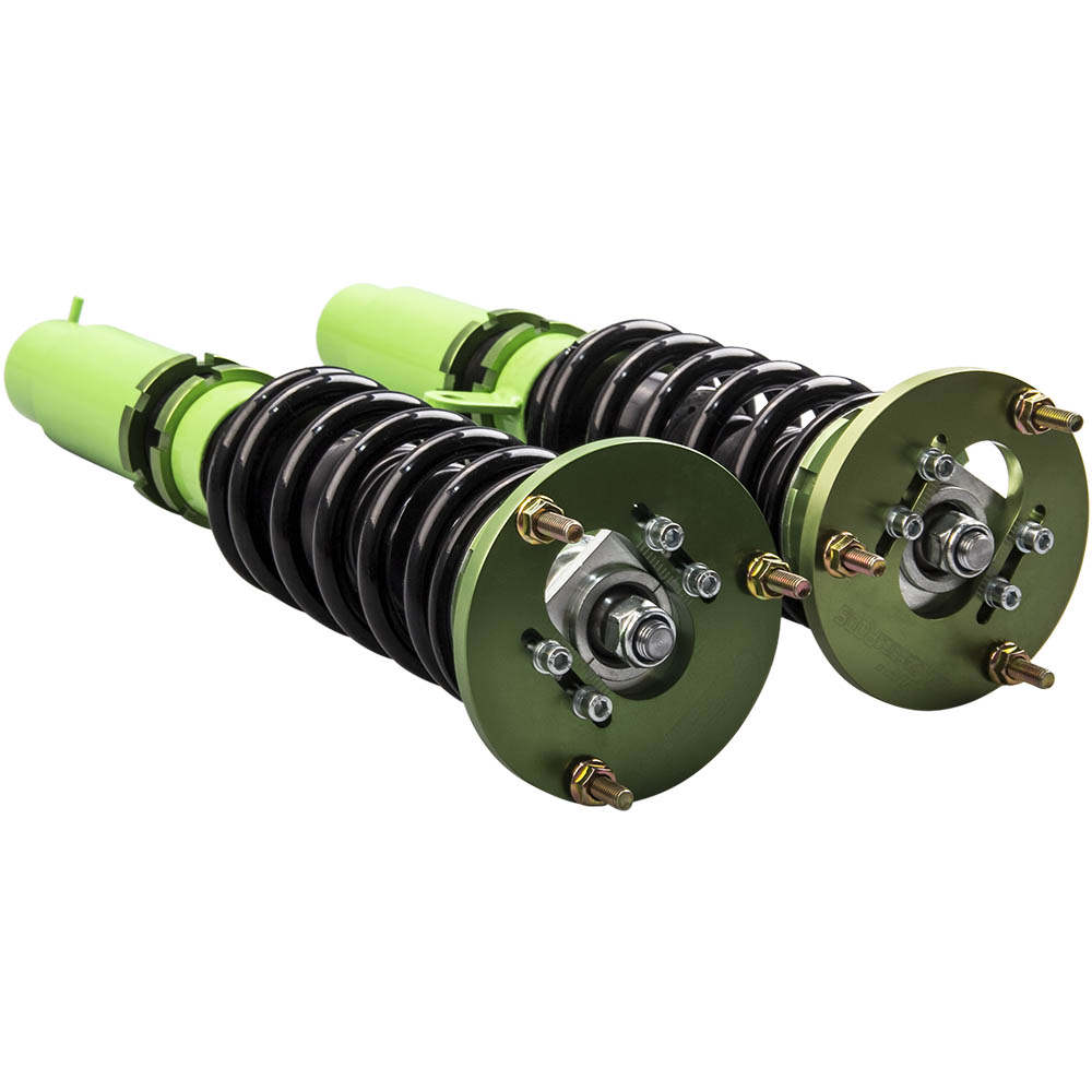 Green Front + Rear Coilovers for BMW E46 3 Series Adj. Height + Sway Bar