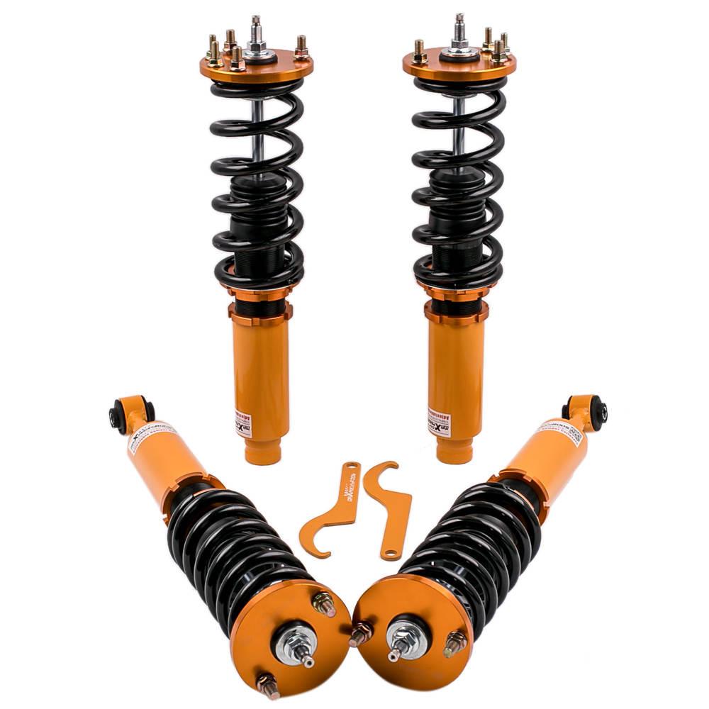 Maxpeedingrods Amortiguador Coilovers Kits de suspensión 24 vías ajustables compatible para Honda Accord 03-07 compatible para Acura TSX 04-08