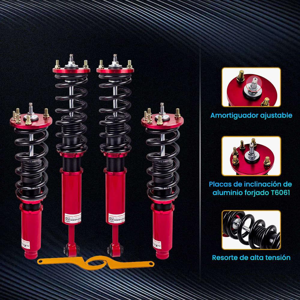 Coilover Amortiguador Delantero Trasero Ajustable compatible para Honda Accord 2003-2007