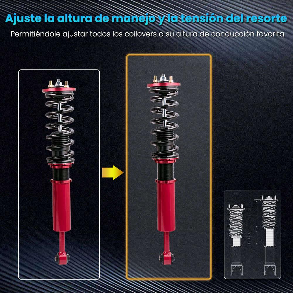 Maxpeedingrods Kits de suspensión Coilovers de puntal de bobina de altura ajustable compatible para Honda Accord 2003-2007 compatible para Acura TSX 2004-2008