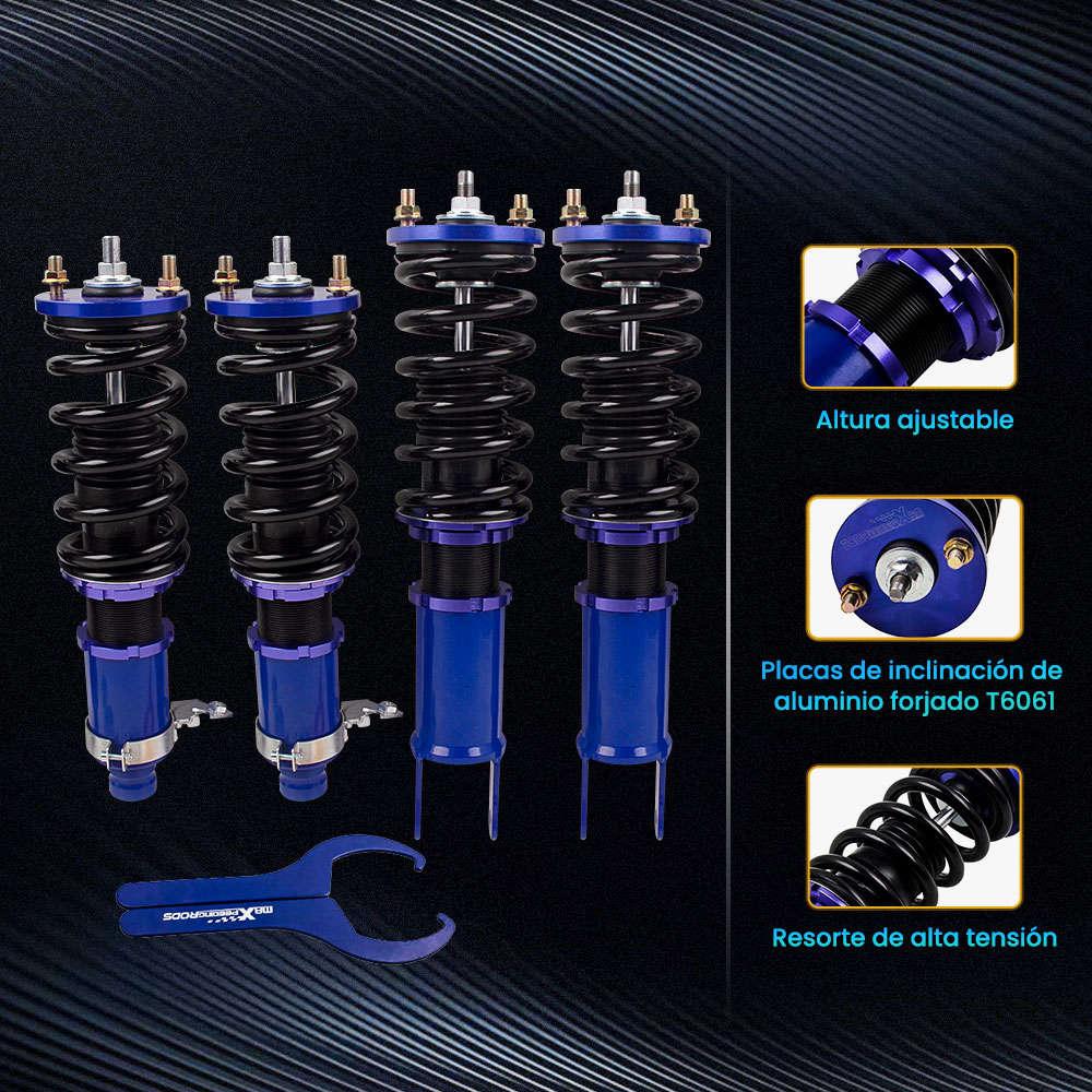 Maxpeedingrods Kit de suspensión delantera y trasera con amortiguadores compatible para Honda Civic 1988-2000