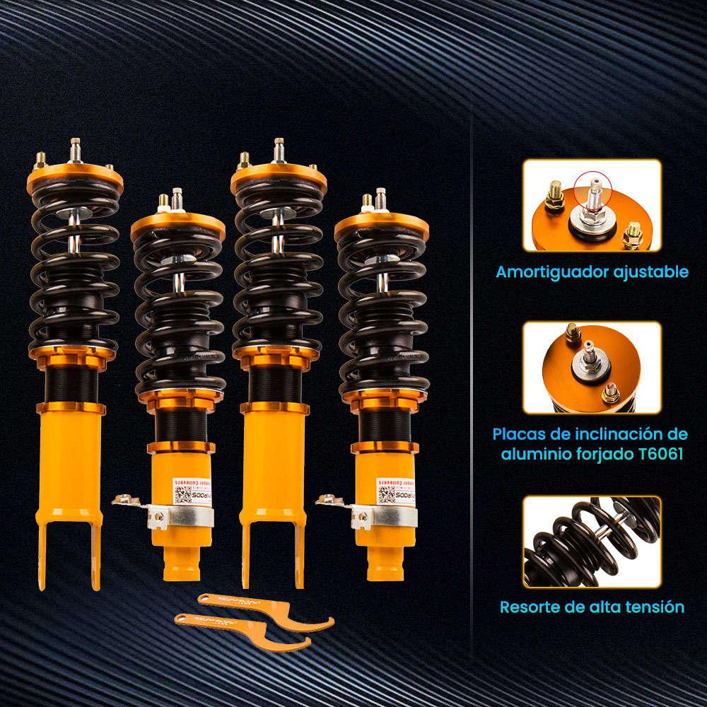Maxpeedingrods - Kits de suspensión ajustable con amortiguador de doble tubo compatible para Honda Civic 1988-2000