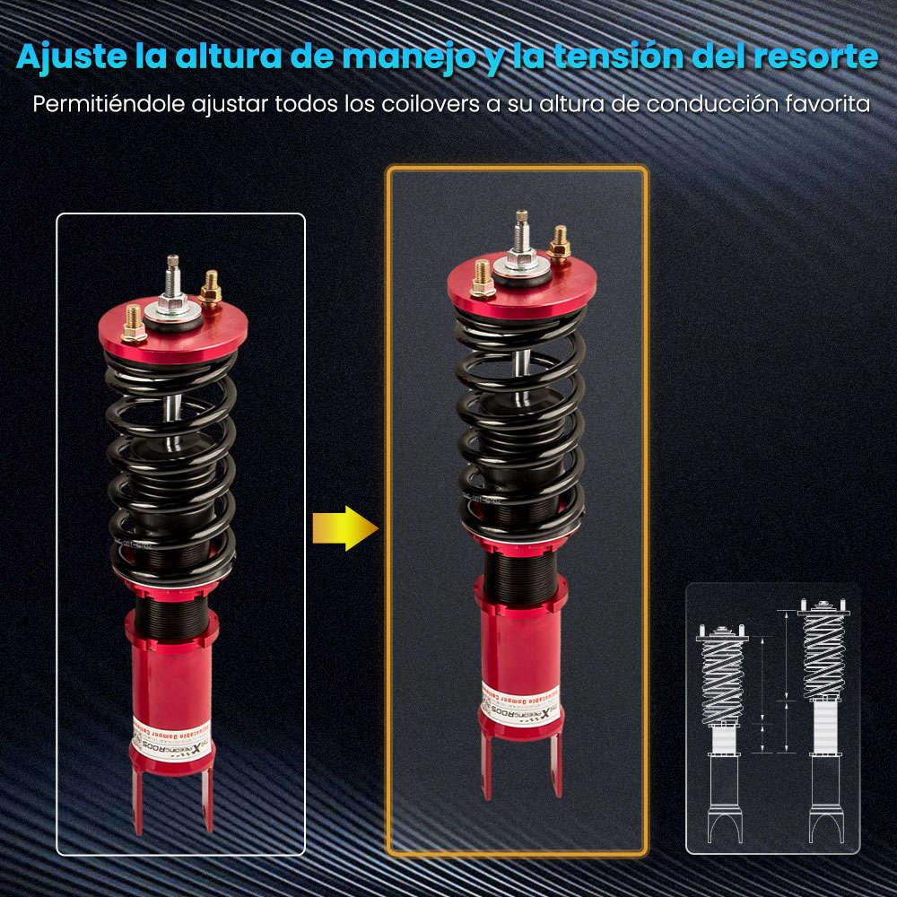 Maxpeedingrods - Amortiguadores ajustables de montaje completo compatible para Honda Civic 1988-2000