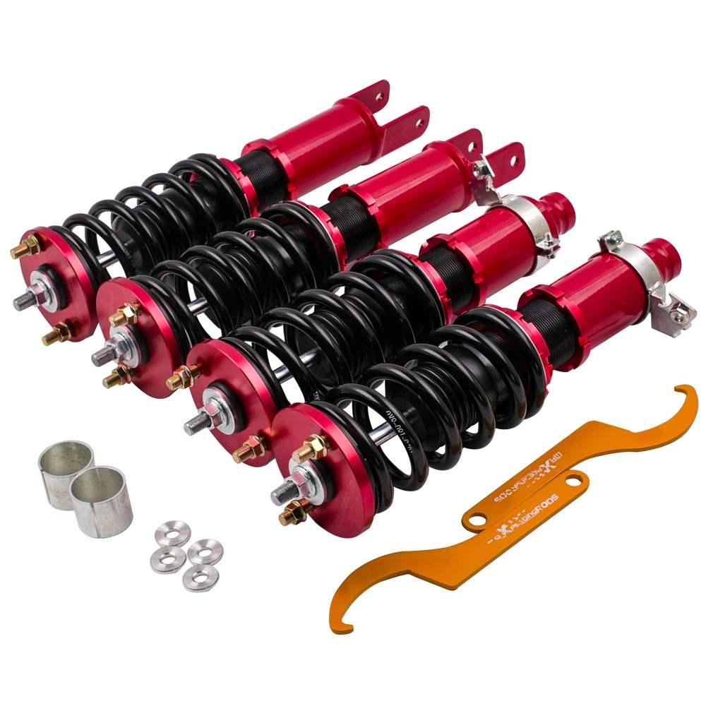 Coilovers For Honda Civic  92-95 EG EJ EH 96-00 EK EJ EM Suspension Kits Adjustable Height Red Coil Strut