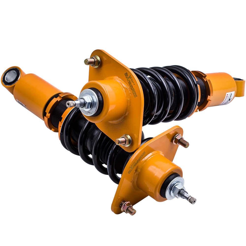 Kit de suspensión de coilover ajustable 4 piezas delantero + trasero compatible para HONDA CRV CR-V 07-11