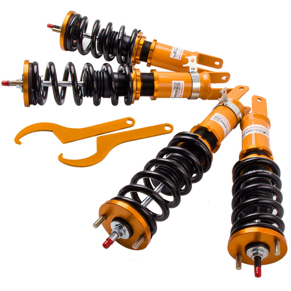 24 Way Damper Ajustables Amortiguador Coilovers compatible para Honda S2000 AP1 AP2 F20C