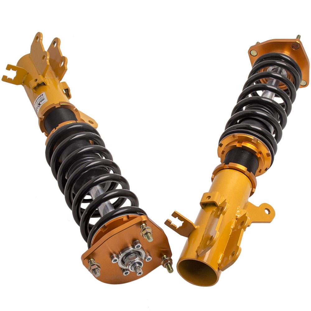 Amortiguador de 24 pasos y kit de coilover de altura ajustable compatible para Hyundai Tiburon 2003-2008