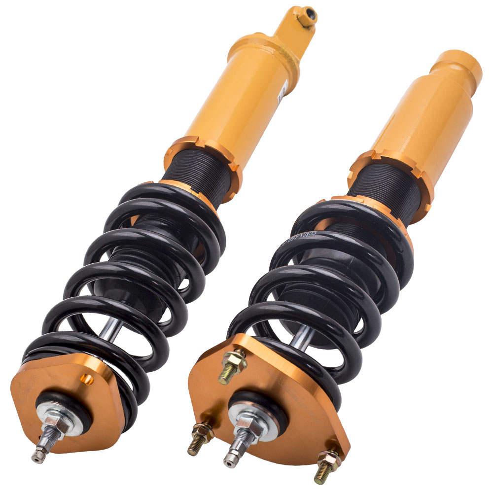 4PCS Suspensión compatible para Infiniti M35x M45x 06-10 AWD Ajustable Amortiguadores