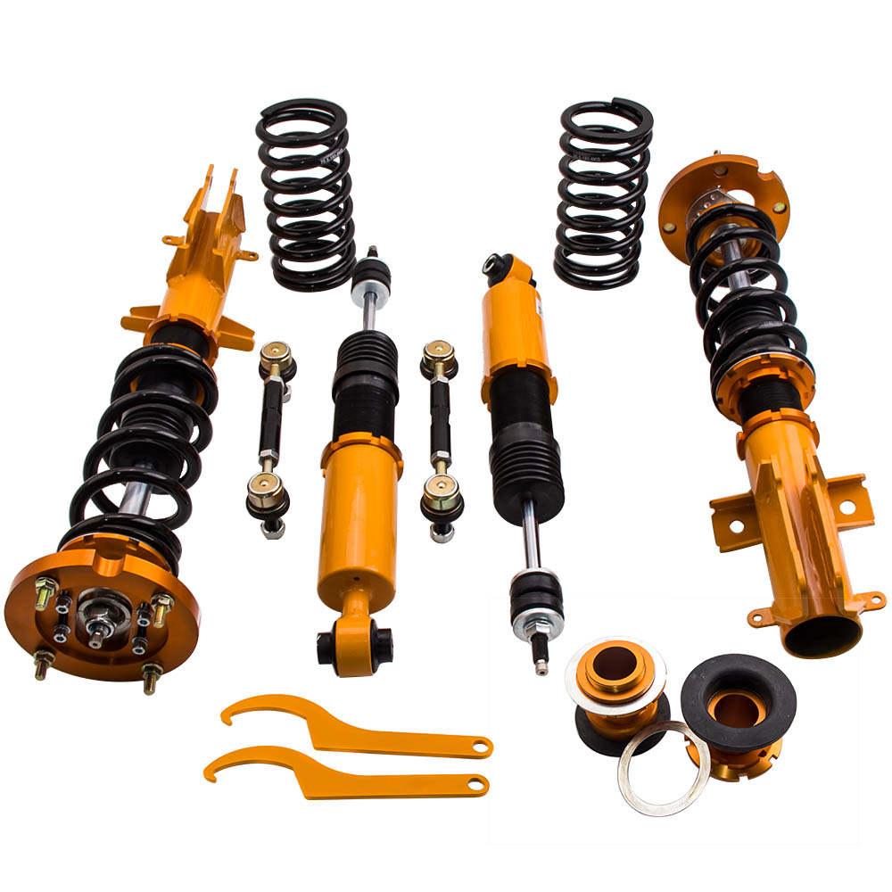 24 Maneras Ajustable Amortiguador Kit de suspensión compatible para Ford Mustang 2005-2014
