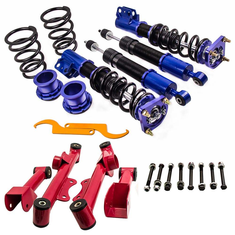 Racing Coilovers Kits for 94-04 Ford Mustang 4th Adj. Height  + Control Arm