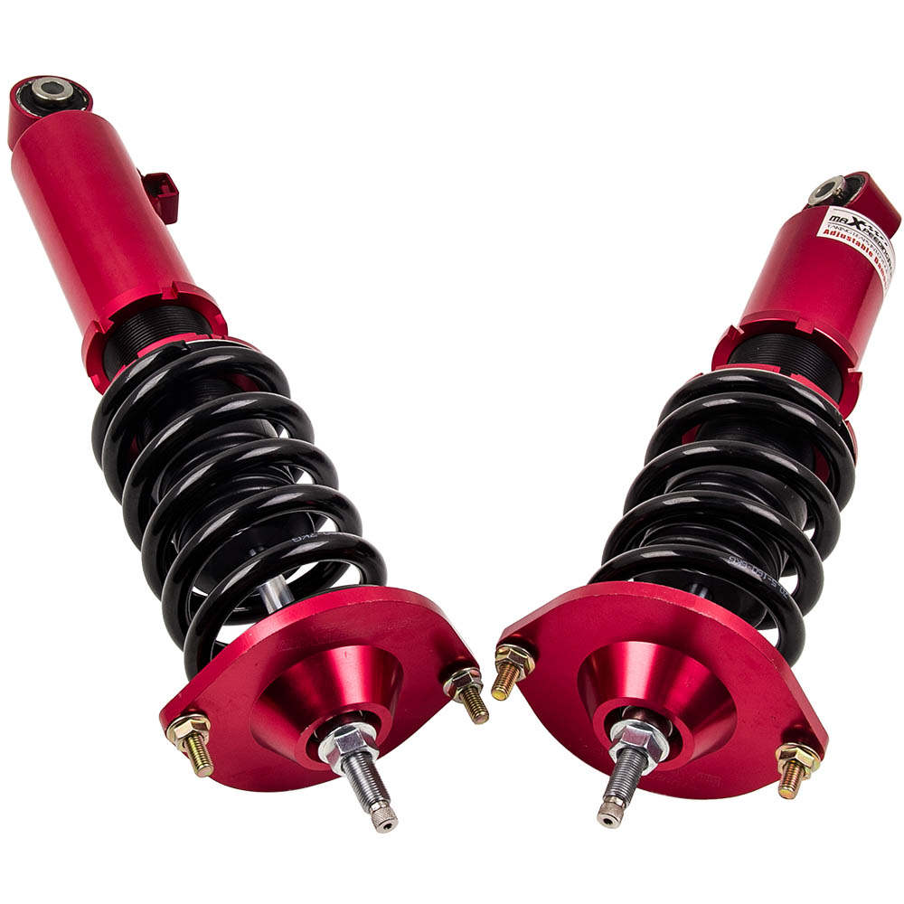 1990 - 1998 For Mazda Miata Adjustable Damper Coilovers Suspension Kit Red