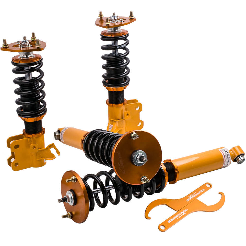 For Nissan S14 200SX 240SX Silvia 1994 - 1998 4pcs 24 Ways Adjustable Coilover Suspension Kit