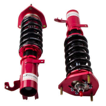 For Toyota Corolla 1988 - 1999 E90 E100 E110 Shock Absorber Suspension Kit Red 24 Ways Adjustable Coilovers