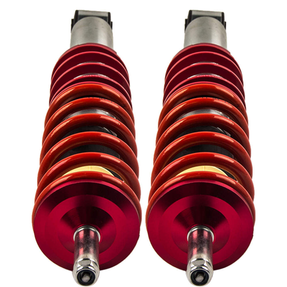 Height Adjustable Coilovers Suspension Lowering Kit For VW Red
