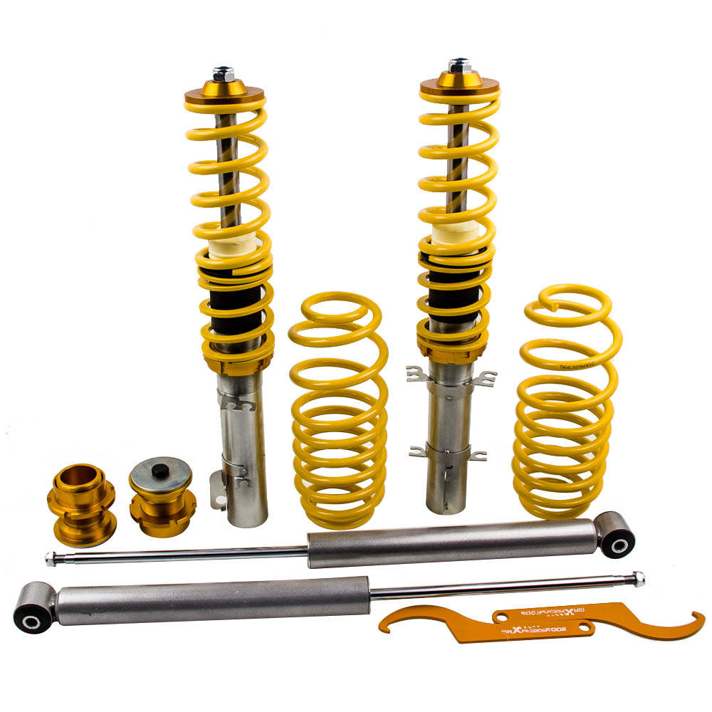 Street Coilovers Suspension Struts for VW VW Golf MK4 1.9 TDi FWD Shock Yellow