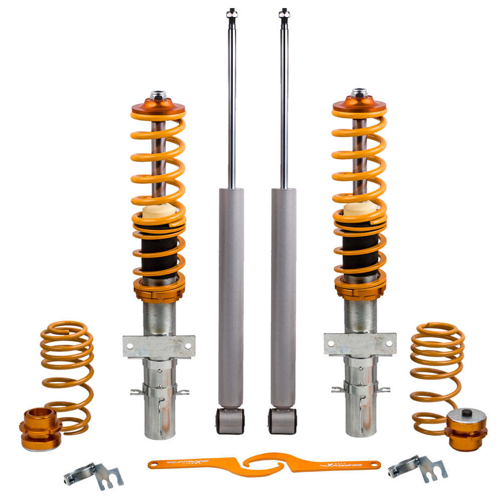 For VW Polo Mk5 6R Seat Ibiza 9J Audi Adjustable Coil Spring Coilover Suspension Kit