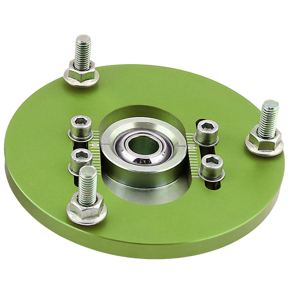 For Coilover Camber Plates for BMW 3 Series E36 318 328 323 325 M3 Top Mount Green