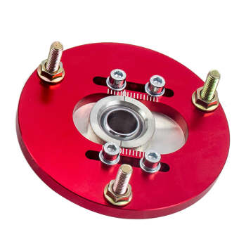 Red For BMW 3 Series E36 92-99 Front Coilover ADJ.Camber Plate Top Upper Mount