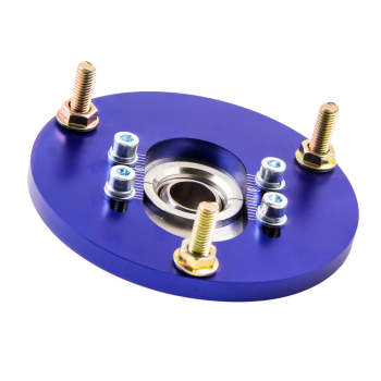 Top Mount Front Coilover Camber Plate For BMW E46 98-05 320 323 325 328 M3 Blue